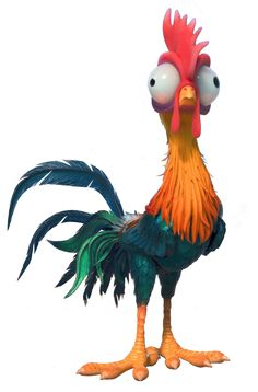 Heihei is a character in the 2016 Disney animated feature film Moana. He is a rooster that. Moana Disney, Disney Pixar, Film Disney, Disney Animation, Disney Art, Disney Sidekicks, Disney Wiki, Disney Characters, Moana Birthday Party