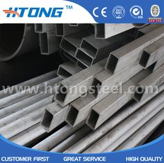 HTONG stainless steel industrial pipes with round and square sections