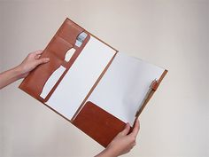 30% off Document Folder/ Case - A4 / Letter - Leather - Harlex Hand Stitched
