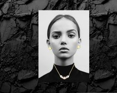 Styling by elsaspenninge showing Dot Ear Studs Large Gold and Lush Pink Quintet Necklace Gold  #jewellery #Jewelry #bangles #amulet #dogtag #medallion #choker #charms #Pendant #Earring #EarringBackPeace #EarJacket #EarSticks #Necklace #Earcuff #Bracelet #Minimal #minimalistic #ContemporaryJewellery #zirkonia #Gemstone #JewelleryStone #JewelleryDesign #CreativeJewellery #OxidizedJewellery #gold #silver #rosegold #hoops #armcuff #jewls #jewelleryInspiration #JewelleryInspo #accesories…