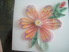 multicolor flower accent - quilling