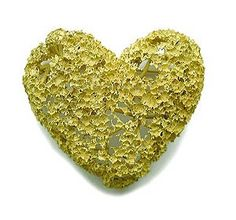 """By Peter Bauhuis Brooch: Foam gold, 1998 Gold 750. He has created an innovative technique, the golden foam. """"Petite texture and subtle colour effect"""" created during the casting process. The result is jewellry that looks almost like a creature of nature, and not as a work of man. it's incredibly light and tender heart is another present the proposal to the fragile and fleeting nature of emotional feelings and the whole structure of man."""