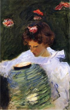 Dorothy Barnard, 1885, John Singer Sargent    Size: 49.53x72.39 cm  Medium: oil, canvas