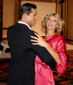 Pin for Later: 150+ Supersexy Moments to Get You Excited For the VS Fashion Show  Mario Lopez and Marisa Miller shared a dance backstage in 2007.