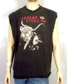 b531c97c vtg 90s Harley Davidson Motorcycles New York NY T-Shirt legend lives on SZ  XL