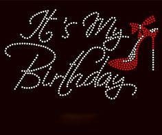 It's My Birthday with Red Heel, Birthday Shirt, Birthday Gift, Adult, Youth, Kids, Rhinestones by ElegantDesignsAR on Etsy