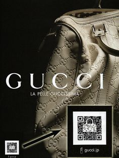 Branded #QR Code and #fashion : #Gucci #qrcode