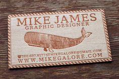 balsa wood letterpress business card, violet chalakov
