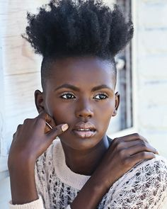 Dark Bella. Shaved sides. Natural hairstyles.