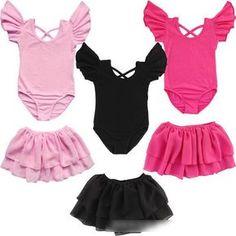 102ca02171a9 Children Ballet Dance Dress New Girls Child Leotard Dance Ballet Cotton Gymnastics  Toddler Kids Sz 2