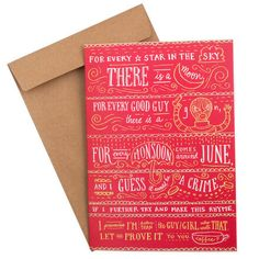 Buy Not Your Typical Valentine Card Online - Chumbak