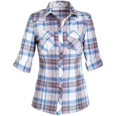 Floral Trim Plaid Shirt (130 NOK) ❤ liked on Polyvore featuring tops, shirts, long sleeves, blusas, shirts & blouses, long sleeve button up shirts, tartan top, long sleeve shirts, plaid top and shirts & tops
