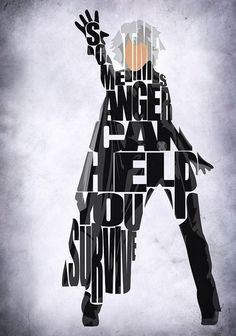 XMen Inspired Storm Typographic Print and Poster by GeekMyWalL, $25.00