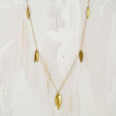 Brass 30 Layering Necklace Desert Willow par failjewelry sur Etsy