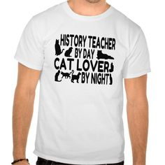 History Teacher Cat Lover T Shirt, Hoodie Sweatshirt