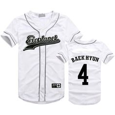 EXO Seoul Concert Same Style T-Shirt Baekhyun Sehun Xiumin Hip-hop... (19 CAD) ❤ liked on Polyvore featuring tops, t-shirts, tee-shirt, t shirt and shirt top