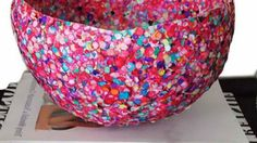 want to try this with strings of sequins for christmas decoration in girls room or pehaps a lamp shade