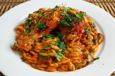 Giouvetsi is a one pot Greek dish where the meat is baked along with the pasta. While the meat is cooking, its juices drip right into the pasta where its flavours are absorbed.