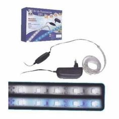 """Ica Kit de IluminaciónLedBlanco-Solar Kit para aumentar la potencia lumínica de la pantalla del acuario. Disponibles en """"Blanco-Solar"""" (ideal para peces y plantas naturales) y """"Azul-Actínico"""" (ideal para ampliar acuarios marinos)."""
