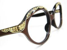 Vintage 60s Oval Cateye Eyeglasses Frame With by Vintage50sEyewear, $84.00