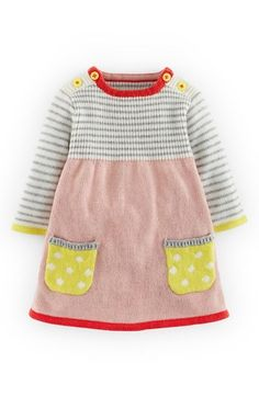 Free shipping and returns on Mini Boden Sweet Knit Sweater Dress (Baby Girls) at Nordstrom.com. A striped bodice and long sleeves perfectly complement the polka dot patch pockets and contrast trim of this charming knit sweater-dress kissed with cashmere.