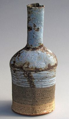 Saltwater Layer Shouldered Bottle by Jane Wheeler via http://www.birchamgallery.co.uk