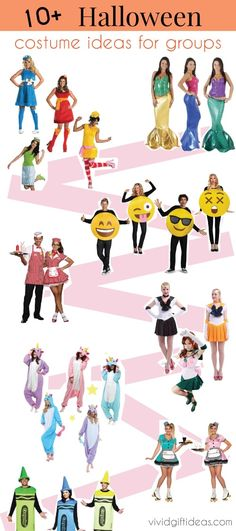 Dress up with friends or coworkers. Halloween Group Costumes Ideas. Suitable for teens, for work.