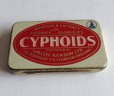 Vintage English sweets metal tin box  SMITH KENDON   by LostPapers, €7.00