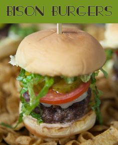 Celebrate the super with this easy bison burger recipe. It's perfect for a party.