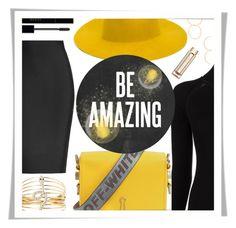 """Be Amazing.."" by rasa-j ❤ liked on Polyvore featuring Roland Mouret, REINHARD PLANK, Charlotte Russe, Misha Nonoo, Off-White, Ettika, Gucci, Estée Lauder and womensFashion"