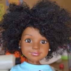 Me encanta!!! // Natural hair doll via @CurlKit Curly By Nature Curly By Nature