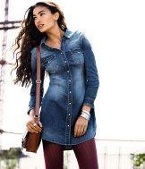 H & M denim shirt-dress..have it.
