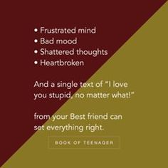 """""""They can swing your mood in a fraction of second. It's a power of them Besties Quotes, Best Friend Quotes, Swing Quotes, Mood Swings Quotes, Real Friendship Quotes, Friendship Captions, Memories Quotes, Teenager Quotes, Love Yourself Quotes"""