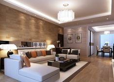 Image result for can you have a center light and recessed lighting in the same room