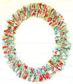 RagHearth rag wreaths (3) - More decor: http://stunninghomedecor.com/2015/11/15/raghearth-rag-wreaths-3/