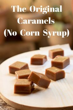 I call it The Original Caramels as they are indeed ORIGINAL. These Caramels are chewy and real. No corn syrup or golden syrup added to this one. Chewy Toffee Recipe, Caramel Recipe No Corn Syrup, Chewy Caramels Recipe, Caramel Recipes, Fudge Recipes, Candy Recipes, Sweet Recipes, Homemade Caramels, Microwave Caramels