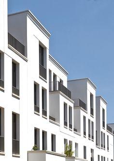 SOPHIENTERRASSEN - Fassadendetail Stadthäuser. MRLV Architekten, © Jochen Stüber, Hamburg