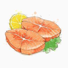 水彩食物@Y森林Y采集到插画(1002图)_花瓣