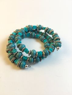 Turquoise Memory Wire Bracelet Memory Wire Bracelet