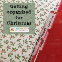 X is for Xmas, this year I have resolved to be more organised so I am less stressed in the run up to Christmas
