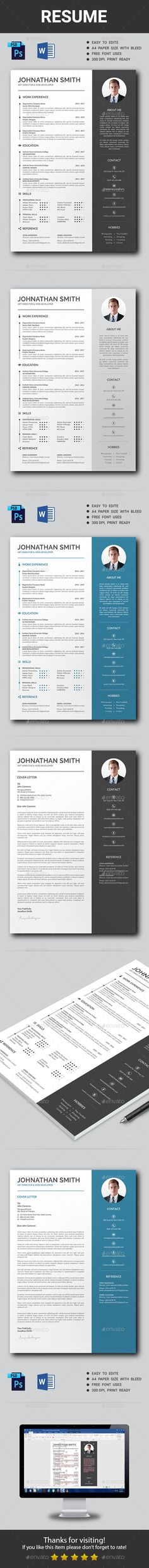 #Resume - Resumes Stationery Download here: https://graphicriver.net/item/resume/19365437?ref=alena994