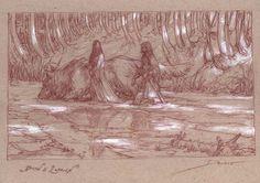 Muddy Colors: Beren and Luthien - Tolkien's Silmarillion  Donato Giancola