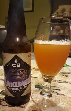 CB Craft Brewers Makumba is a 9ABV 78 IBU ADIIPA.  The hops include Summit, Apollo, Columbus, Centennial, Falconers Flight & Exp 05256 and the malts Superior Pilsner, Wheat, Melanoidin, Sauer.  The appearance is hazy, unfiltered orange and the nose all bitter hop and sweet malt.  The flavor follows, fairly well balanced sweet malts and big, bitter hops, neither components are particularly well nuanced.  Mouthfeel is big and creamy.  It's fine, good for a one and done try.
