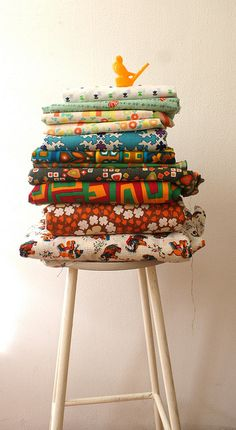 vintage fabric by Ingthings, via Flickr