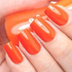 Essence Flashy Pumpkin 145, Colour & Go Nail Polish Swatches & Review