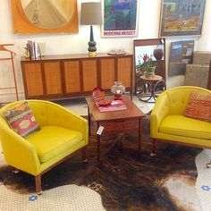 Everything's is bright and sunny at the shop today! Open all weekend with beautiful things to offer! #MidCenturyModern