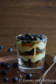 Chocolate Caramel Blueberry Trifle