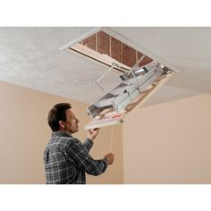 Stairs That Disappear Gutters Pinterest Attic Ladder