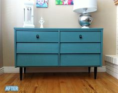 I love this color. I have a similar mid-century dresser that I'd like to re-do.
