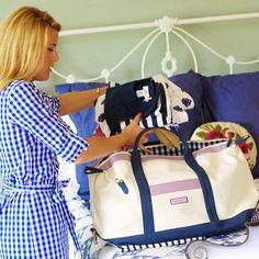 Vineyard whale weekender bag. Preppy lifestyle